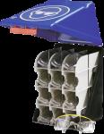 SecuBox Maxi12 für 12 Schutzbrillen, blau, Kunststoff, 236x315x200 mm