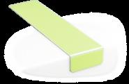 Treppenmarkierungswinkel, Alu, nachleucht., 160-mcd, selbstklebend, 225x50 mm