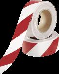 Warnmarkierung linksweisend, Folie, reflektierend, Rot-Weiß, 100 mm x 15 m