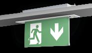 LED-Notleuchte L-LUX Standard, Deckeneinbau, Betriebsdauer 3 Stunden