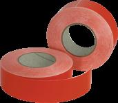 Leuchtband rot fluoreszierend, Folie selbstklebend, 50 mm x 50 m, 2 Rollen/VE