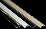 Kabelbrücken-Set aus Aluminium, Gelb-Schwarz, 80x1500 mm