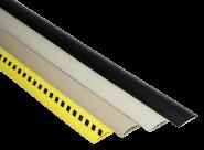 Kabelbrücken-Set aus Kunststoff, Schwarz, 75 mm x 3 m