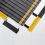Kantenprofil gelb/schwarz für Industriematte, 1,25 cm, Längsseite