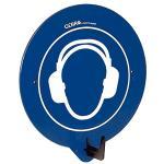 SecuPoint blau, Gehörschutz benutzen, Kunststoff, 19,5x16,3 cm