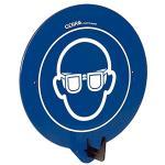 SecuPoint blau, Augenschutz benutzen, Kunststoff, 19,5x16,3 cm