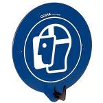 SecuPoint blau, Gesichtsschutz benutzen, Kunststoff, 19,5x16,3 cm