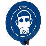 SecuPoint blau, Atemschutz benutzen, Kunststoff, 19,5x16,3 cm