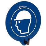 SecuPoint blau, Kopfschutz benutzen, Kunststoff, 19,5x16,3 cm
