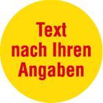 Markierungspunkte,2-farbig, Text n. Wunsch, PP-Folie, Ø 3,5cm, Rolle à 500 Stück