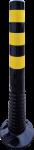 Flexipfosten schwarz mit gelb refl. Streifen, Polyurethan, Ø 80 mm, Höhe 750 mm