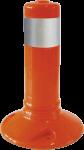 Flexipfosten orange mit reflekt. Streifen, Polyurethan, Ø 80 mm, Höhe 300 mm