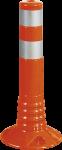 Flexipfosten orange mit reflekt. Streifen, Polyurethan, Ø 80 mm, Höhe 750 mm