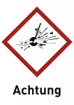 Explosiv (GHS 01) Achtung, Folie, 74x105 mm