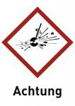 Explosiv (GHS 01) Achtung, Folie, 52x74 mm, 10 Stück/Bogen