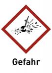 Explosiv (GHS 01) Gefahr, Folie, 74x105 mm