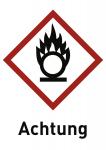 Oxidierend (GHS 03) Achtung, Folie, 52x74 mm, 500 Stück/Rolle