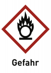 Oxidierend (GHS 03) Gefahr, Folie, 26x37 mm, 500 Stück/Rolle