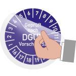 Schutzlaminat für Prüfplaketten, Folie, Ø 2 cm