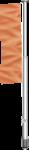 Fahnenmast Standard, 2-teilig, Alu, eloxiert, 9 m Höhe über Flur