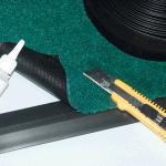 Rand für Schmutzfangmatte Olefin, Vinyl, 183 cm Breite