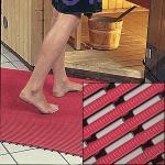 Arbeitsplatzmatte Heronrib 2000, Vinyl, rot, 50 cm Breite