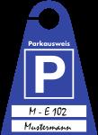 Parkausweis blanko zur Selbstbeschriftung, Kunststoff transparent, 120x165 mm