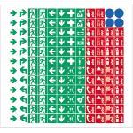 144 Piktogramme für Brandschutz u. Fluchtweg, Folie, 8mm, nach neuer ASR A1.3