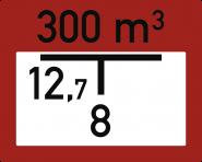 Individuell gefertigte Hinweisschilder zur Löschwasserentnahme, Alu, 250x200 mm