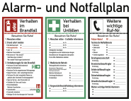 Alarm- und Notfallplan ISO 7010, Kunststoff, 620x480 mm