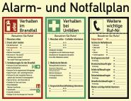 Alarm- und Notfallplan ISO 7010, Kunststoff, nachleuchtend, 50-mcd, 620x480 mm