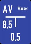 Wasser-Hinweisschild (C) inkl. Beschriftung, Alu, 100x140 mm