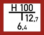 Hinweisschild auf einen Unterflurhydranten (A) inkl. Beschriftung,Alu,250x200 mm