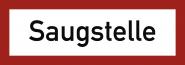 Saugstelle, Alu, 297x105 mm