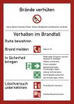 Brandschutzordnung (ohne Handfeuermelder), Teil A (2014), Folie, 210x297 mm
