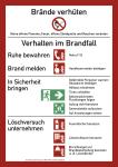 Brandschutzordnung (mit Handfeuermelder), Teil A (2014), Folie, 210x297 mm