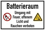 Batterieraum, Folie, 300x200 mm