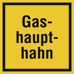 Gashaupthahn, Alu, 200x200 mm