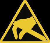 Elektrostatisch gefährdete Bauelemente, Folie, 25 mm SL, 10 Stück/Bogen