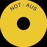 Schild Not-Aus, Folie, Ø 80 mm