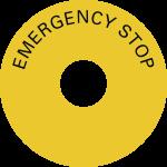 Schild EMERGENCY STOP, Folie, Ø 80 mm