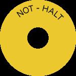Schild NOT-HALT, Folie, Ø 80 mm