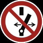 Schalten verboten ISO 7010, Magnetfolie, Ø 100 mm