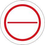 Stromkreis-Bezeichnungsschilder zum Selbstbeschriften 2 geteilt, Folie, Ø 3,9 cm