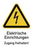 Elektrische Einrichtungen Zugang freihalten!, Kombischild,Kunststoff, 210x297 mm