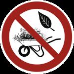 Grün- und Gartenabfälle abladen verboten, Alu, Ø 400 mm