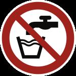 Kein Trinkwasser  ISO 7010, Folie, Ø 100 mm