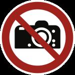 Fotografieren verboten ISO 7010, Folie, Ø 200 mm