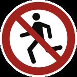 Laufen verboten ISO 20712-1, Alu, Ø 400 mm
