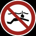 Schnorcheln verboten ISO 20712-1, Alu, Ø 400 mm
